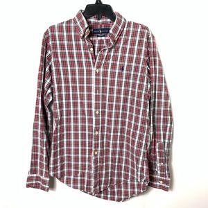 Ralph Lauren button down shirt plaid men's small